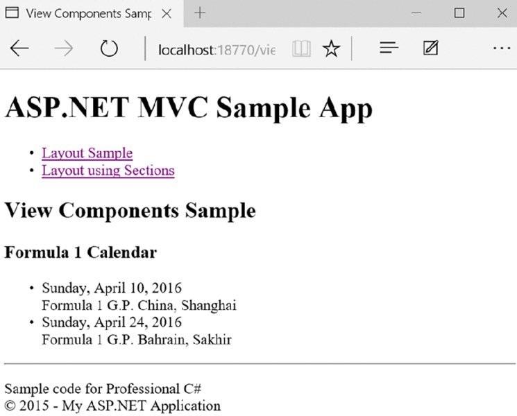 Professional C# 6 and  NET Core 1 0 - Chapter 41 ASP NET MVC