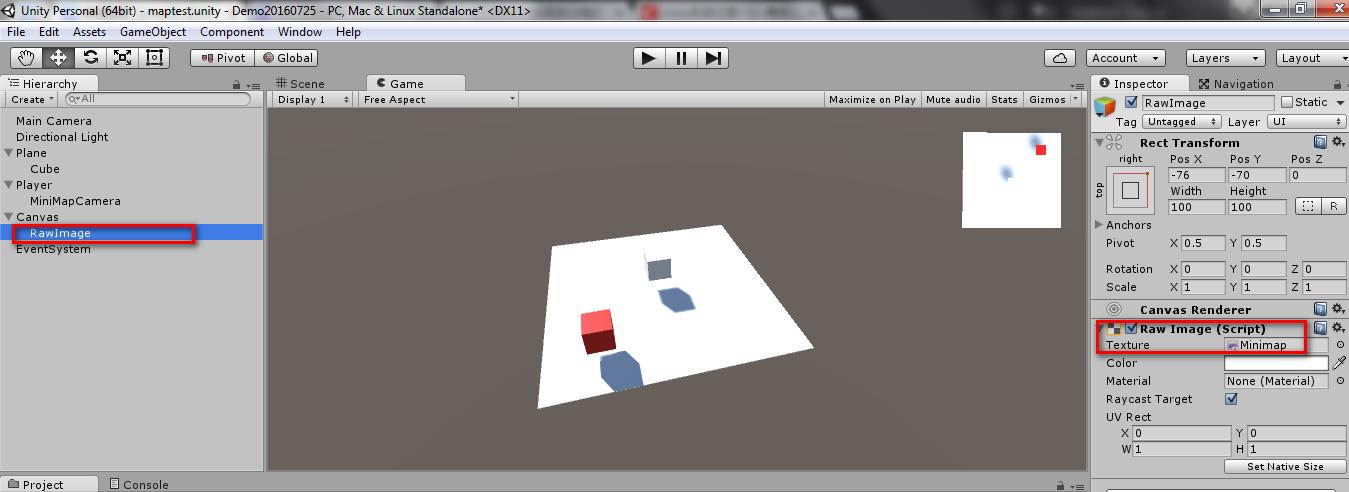 Unity3D 之UGUI制小地图