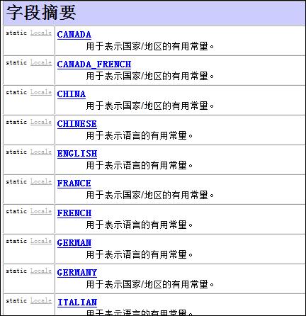 Java描述语言、国家和地理的类——Locale