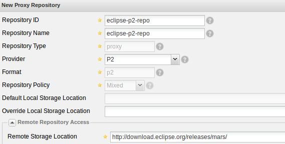 Nexus Repository Manager OSS 代理p2 源