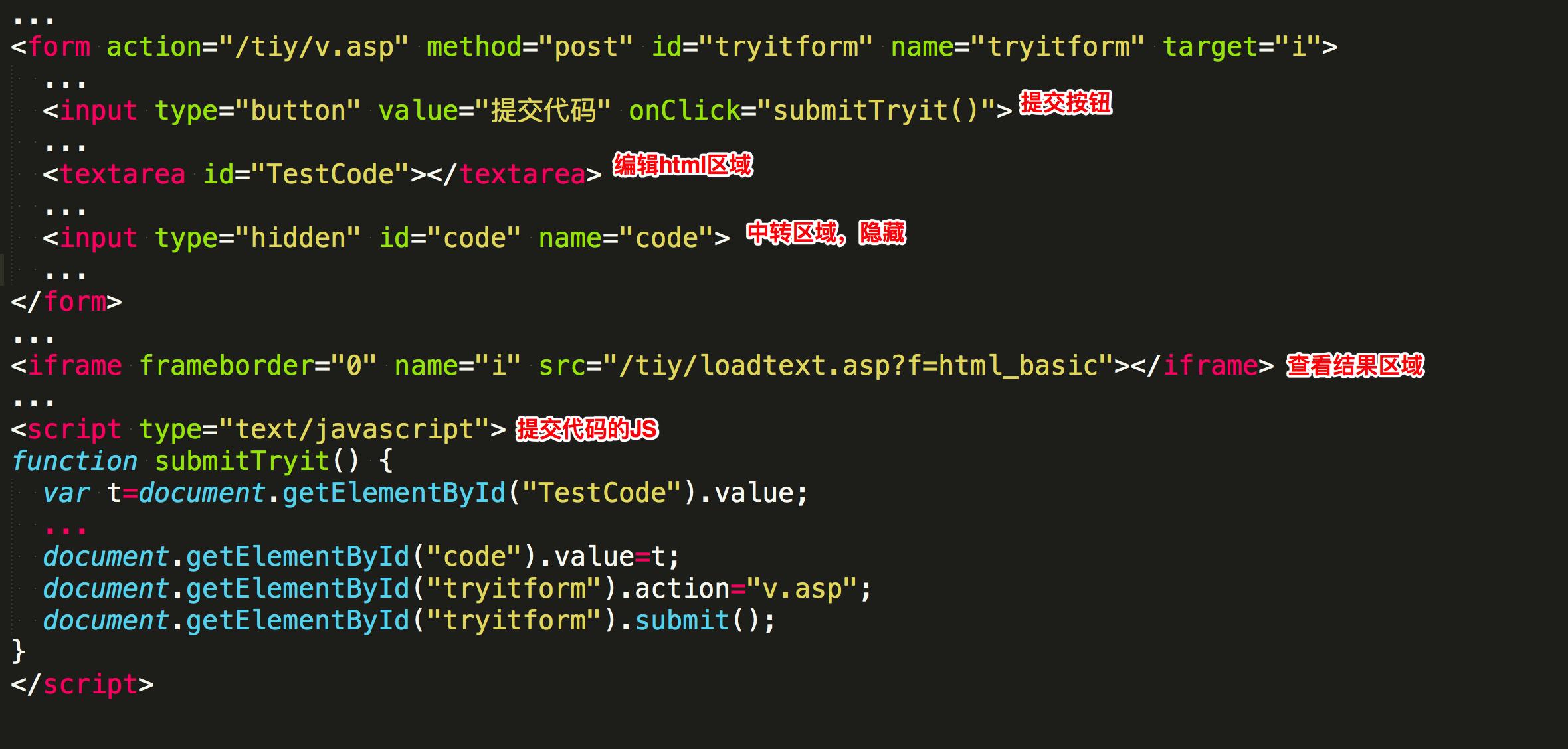 HTML的iframe标签妙用- 在线执行前端代码的网站原理是什么?
