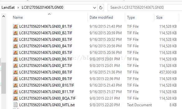GDAL库扩展Landsat系列MTL文件格式支持