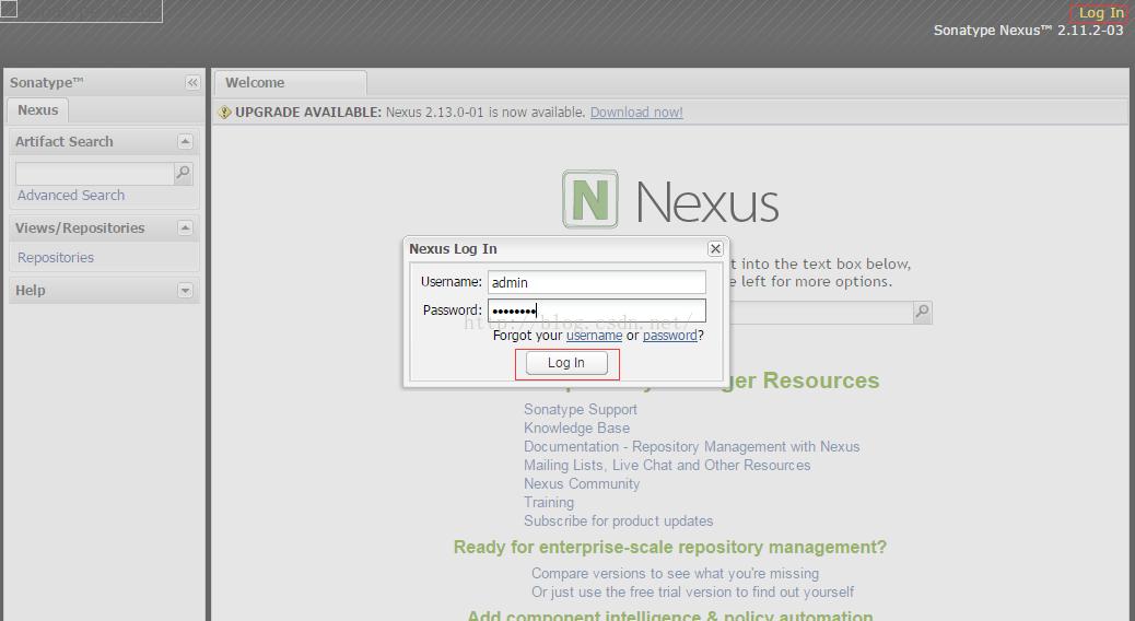 Maven 私有库Nexus的安装