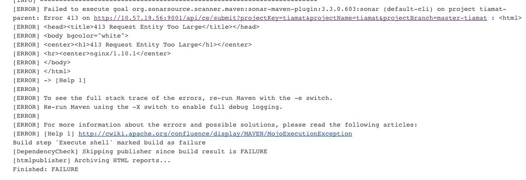 Jenkins错误413 Request Entity Too Large