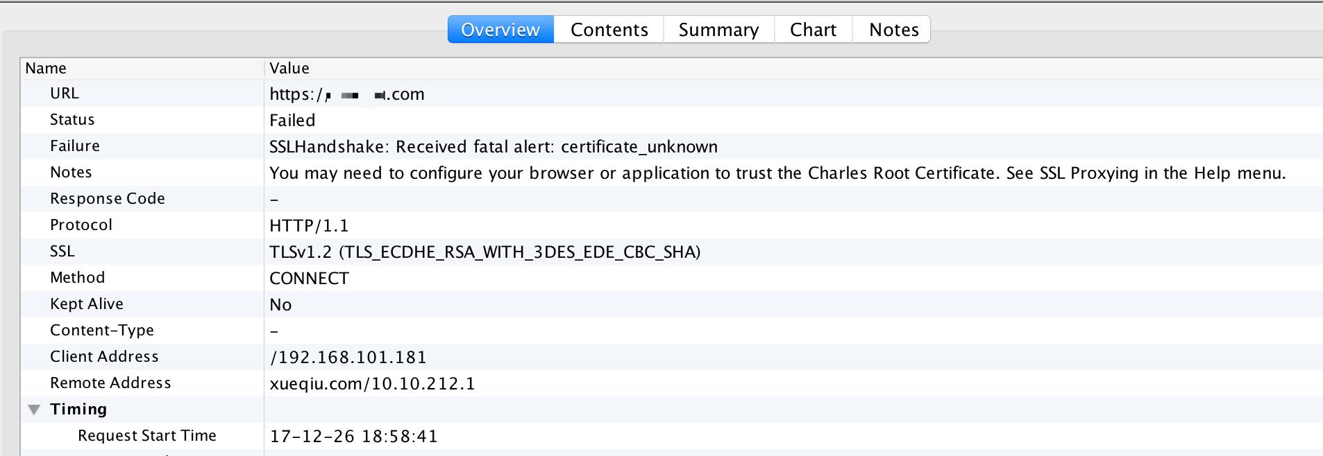 Charles]SSLHandshake: Received fatal alert: certificate_unknown