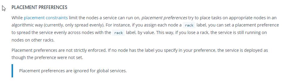 docker swarm 部署服务时,限制服务启动后所在的机器